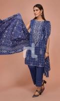 - Printed Slub Lawn Shirt: 3.5 Mtr  - Printed Voil Dupatta: 2.5 Mtr  - Dyed Cambric Trouser: 2.5 Mtr