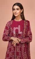 - Printed Slub Lawn Shirt: 3 Mtr  - Printed Voil Dupatta: 2.5 Mtr  - Dyed Cambric Trouser: 2.5 Mtr