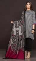 Printed Poly Wool Shawl Dyed Linen Shirt 3 Mtr