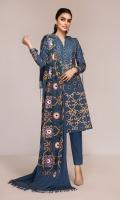 - Digital Printed Khaddar Shirt: 3 Mtr  - Dyed Khaddar Trouser: 2.5 Mtr               - Embroidered Shawl: 2.5 Mtr