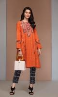 - Digital Printed Khaddar Shirt: 3 Mtr  - Digital Printed Embroidered Khaddar Trouser: 2.5 Mtr