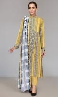 - Printed Linen Shirt: 3.5Mtr  - Dyed Linen Trouser: 2.5 Mtr                    - Printed Linen Dupatta: 2.5 Mtr