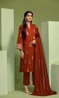 - Digital Printed Khaddar Shirt: 3 Mtr  - Dyed Khaddar Trouser: 2.5 Mtr               - Woven Shaded Shawl: 2.5 Mtr