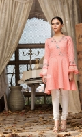 Pink Embroidered Formal Stitched Cotton Shirt - 1Pc