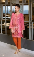 Pink Embroidered Formal Stitched Cambric Shirt And Cambric Trouser - 2Pc
