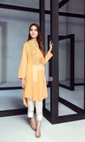 Yellow Dyed Formal Stitched Cotton Shirt - 1PC