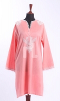 Pink Embroidered Formal Stitched Lawn Shirt - 1Pc