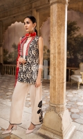 Printed Blended Krinckle Chiffon Dupatta Printed Lawn Shirt (100% Cotton) Dyed Cambric Trouser + 2 Embroidered Motifs (100% Cotton)
