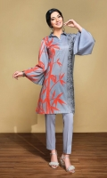 Printed Lawn Shirt: 3.5 Mtr Dyed Cambric Trouser: 2.5 Mtr Embroidered Border (Patch)