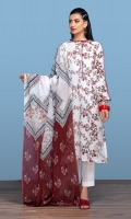 Digital Printed Lawn Shirt: 3 Mtr Dyed Cambric Trouser: 2.5 Mtr Digital Printed Voil Dupatta: 2.5 Mtr