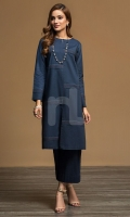 Dyed Embroidered Stitched Formal Shirt – 1PC