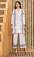 Embroidered Stitched Formal Chikan Linen Shirt & Cotton Trouser – 2PC