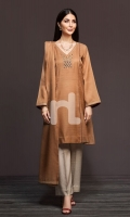 Dyed Embroidered Stitched Formal Shirt & Embroidered Shawl – 2PC
