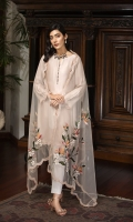 Dyed Stitched Formal Cotton Net Shirt & Net Dupatta – 2PC