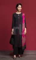 Dyed Embroidered Stitched Formal Shirt & Printed Dupatta – 2PC