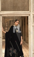 Embroidered Stitched Formal Velvet Shawl – 1PC