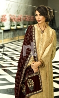 Embroidered Formal Velvet Shawl - 1PC