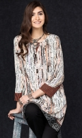 Beige Digital Printed Stitched Linen Shirt - 1PC