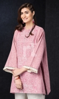 Pink Embroidered Stitched Karandi Shirt - 1PC