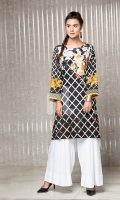 Black Embroidered Stitched Crepe Shirt - 1PC