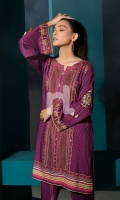 Embroidered Stitched Linen Shirt & Trouser - 2PC