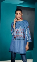 Embroidered Stitched Dobby Viscose Silk Shirt - 1PC