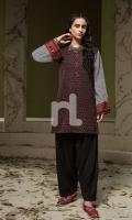 Printed Stitched Khaddar Shirt - 1PC