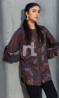 Digital Printed Stitched Linen Shirt - 1PC