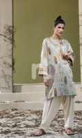 Printed Stitched Sateen Shirt - 1PC
