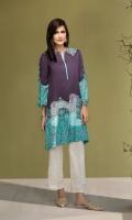 Purple Digital Printed Stitched Linen Shirt - 1PC