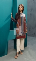 Blue Digital Printed Stitched Cotton Karandi Shirt - 1PC