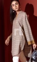 Grey Printed Stitched Karandi Shirt - 1PC