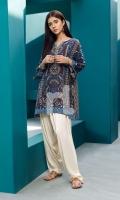 Brown Digital Printed Stitched Khaddar Shirt - 1PC
