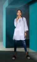 Grey Plain Dyed Stitched Wash & Ware Shirt - 1PC