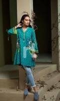 Green Digital Printed Stitched Khaddar Shirt - 1PC