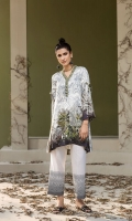 Grey Digital Printed Stitched Linen Shirt - 1PC