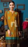 Printed & Embroidered Stitched Linen Shirt -آ 1PC
