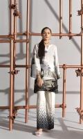 Digital Printed Embroidered Stitched Cotton Karandi Shirt - 1PC