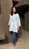 Blue Plain Textured Stitched Wash & Ware Shirt - 1PC