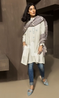 Blue Textured Embroidered Stitched Wash & Ware Shirt - 1PC