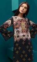 Printed Stitched Linen Shirt - 1PC