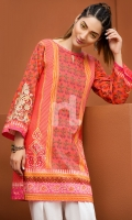 Embroidered Stitched Lawn Shirt- 1PC