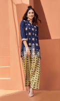 Embroidered Stitched Lawn Shirt and Shalwar- 2PC