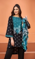 Embroidered Stitched Lawn Shirt and Dupatta- 2PC