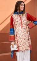 Printed Stitched Lawn Shirt and Dupatta- 2PC