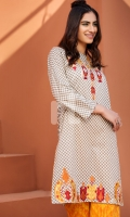 Embroidered Stitched Lawn Shirt and Trouser- 2PC