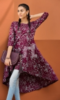 Embroidered Stitched Lawn Frock- 1PC