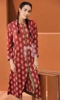 Digital Printed Stitched Lawn Long Dress- 1PC