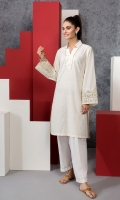 Embroidered Stitched Yarn Dyed Shirt - 1PC