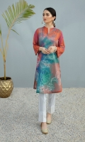 Digital Printed Stitched Lawn Shirt - 1PC